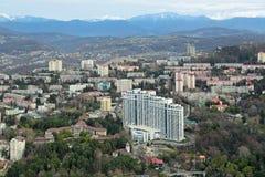 索契都市风景 免版税图库摄影