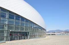 索契,俄罗斯, 2016年3月, 01日 没人, Bolshoi冰球的冰宫殿在Olimpic公园 库存图片