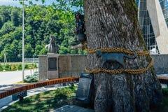 索契,俄罗斯, 2016年6月12日:Lukomorye纪念碑在俄罗斯天然气工业股份公司Galaktika 免版税库存图片