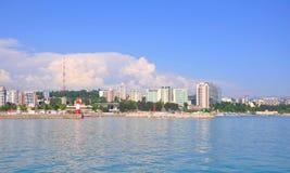 索契,俄罗斯- 2014年5月17日 新的市中心大厦 免版税图库摄影