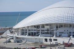 索契,俄罗斯- 9月24 :公园的橄榄球场Fischt为2016年9月24日的世界杯做准备2018年 库存照片