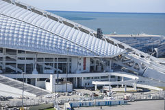 索契,俄罗斯- 9月24 :公园的橄榄球场Fischt为2016年9月24日的世界杯做准备2018年 库存图片