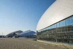 索契,俄罗斯- 7月16 :Bolshoy冰圆顶和体育场2016年7月16日的Fisht 免版税图库摄影