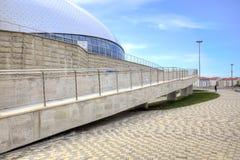 索契 体育场Bolshoy冰圆顶 轮椅的舷梯 免版税库存图片