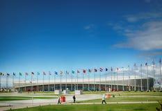 索契2014年爱德乐竞技场滑冰的中心 图库摄影