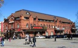 奔萨 在Moskovskaya街道上的购物中心 库存照片