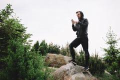 奔跑的人 免版税图库摄影