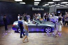 奔驰车亭子  . 路向西部的中国的-第16个成都汽车展示会, 8日8月31th 9月, 2013年 免版税库存图片