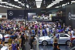 奔驰车亭子  . 路向西部的中国的-第16个成都汽车展示会, 8日8月31th 9月, 2013年 免版税库存照片