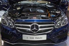 奔驰车在显示的概念GLA汽车引擎在2013年12月3日的第30泰国国际马达商展在曼谷, T 免版税图库摄影