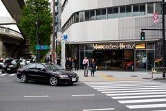 奔驰车大厦-德国汽车商店 免版税图库摄影