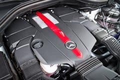 奔驰车所有新的GLE 2015 AMG引擎 库存照片