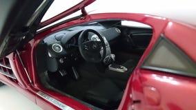 奔驰车迈凯轮SLR模型汽车内部 库存图片