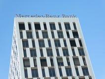 奔驰车银行位子在柏林 库存照片