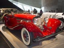 1936年奔驰车500K Spezial跑车 库存照片