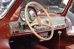 奔驰车300 SL在减速火箭的汽车博览会的Gullwing 1954年,在帕多瓦,意大利2015年10月25日 免版税库存照片