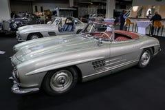 1957年奔驰车300 SL跑车W198葡萄酒汽车 免版税库存照片