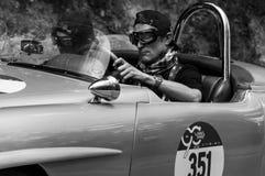 奔驰车190 SL 1955年 库存照片