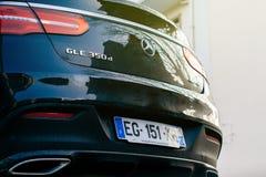奔驰车GLE 350 4matic suv细节 免版税库存图片