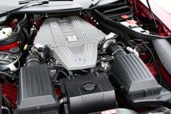 奔驰车SLS跑车引擎海湾 库存照片