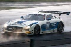 奔驰车SLS AMG GT3 免版税图库摄影
