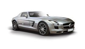 奔驰车SLS AMG Supercar 免版税库存照片