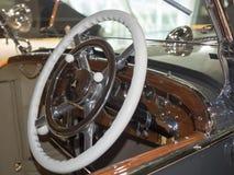 1930年奔驰车Typ SS细节 库存图片
