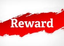 奖励红色刷子摘要背景例证 向量例证