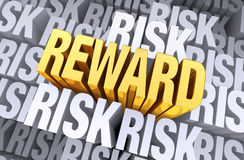 奖励从风险上升 免版税库存图片