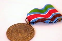奖牌联合国 库存图片