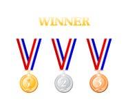 奖牌获得者 库存例证