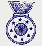 奖牌证书 免版税库存图片