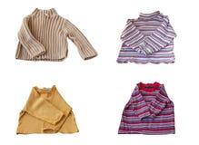 套一个幼儿的四件套头衫 免版税库存图片