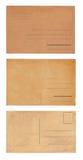 套三张葡萄酒明信片 免版税库存图片