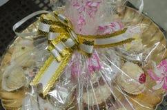 套不同的传统酥皮点心手工制造在mikvah的一个假日之前在订婚前 图库摄影