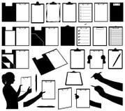 套不同的剪贴板 免版税库存照片