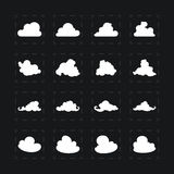 套不同的图象云彩 库存照片