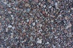 套不同的大小色的石头  免版税库存图片