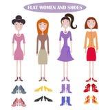 套不同的礼服的常设妇女 皇族释放例证