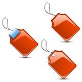 套不同的红色类型标号 免版税图库摄影
