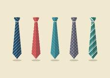 套不同的领带 免版税库存照片