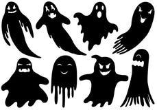 套不同的鬼魂 免版税库存图片