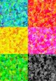 套与三角多角形的六五颜六色的抽象几何背景 皇族释放例证