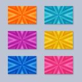 套与不同的颜色镶边纹理的卡片  库存照片
