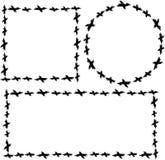 套与乌鸦的框架 围绕和正方形 免版税库存图片