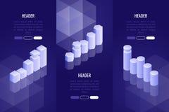 套与各种各样的图和图表的3企业倒栽跳水 数据分析的,报告,介绍形象化概念 库存照片