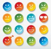 套与各种各样的情感表示的面孔。 库存图片
