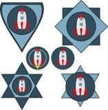 套与太空飞船的V形臂章 免版税图库摄影