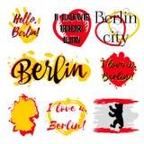 套与字法的标签关于柏林 皇族释放例证