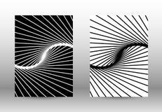 套与被变形的线的抽象样式 免版税库存图片